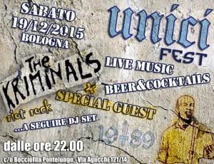 The Kriminals a Bologna sabato 19 dicembre!